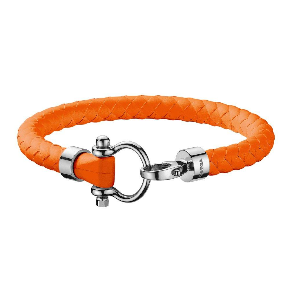 OMEGA Aqua Marine Orange Rubber Bracelet