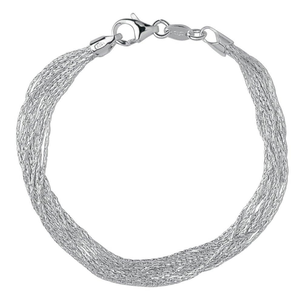 Links of London Silk 10 Row Silver Bracelet