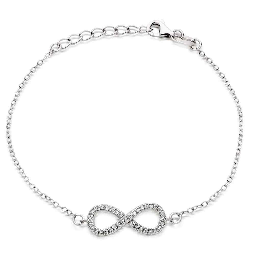 Silver Infinity Cubic Zirconia Bracelet
