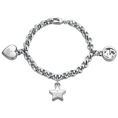 Gucci Silver Trademark Charm Bracelet