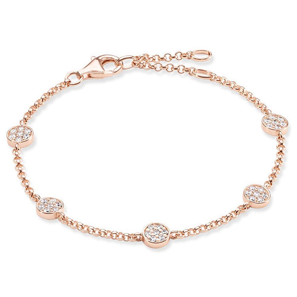 Thomas Sabo Rose Gold Plated Glam & Soul Cubic Zirconia Bracelet