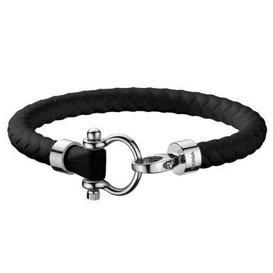 OMEGA Black Rubber Bracelet