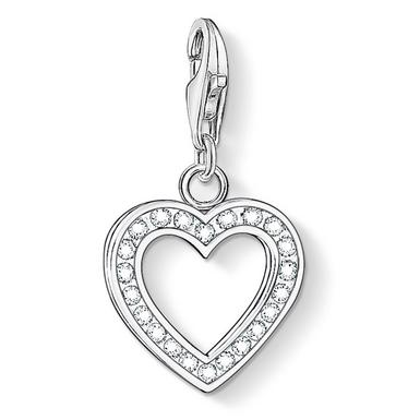 Thomas Sabo Generation Charm Club Silver Cubic Zirconia Heart Charm