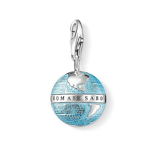 Thomas Sabo Generation Charm Club Travel Silver Minature Globe Charm
