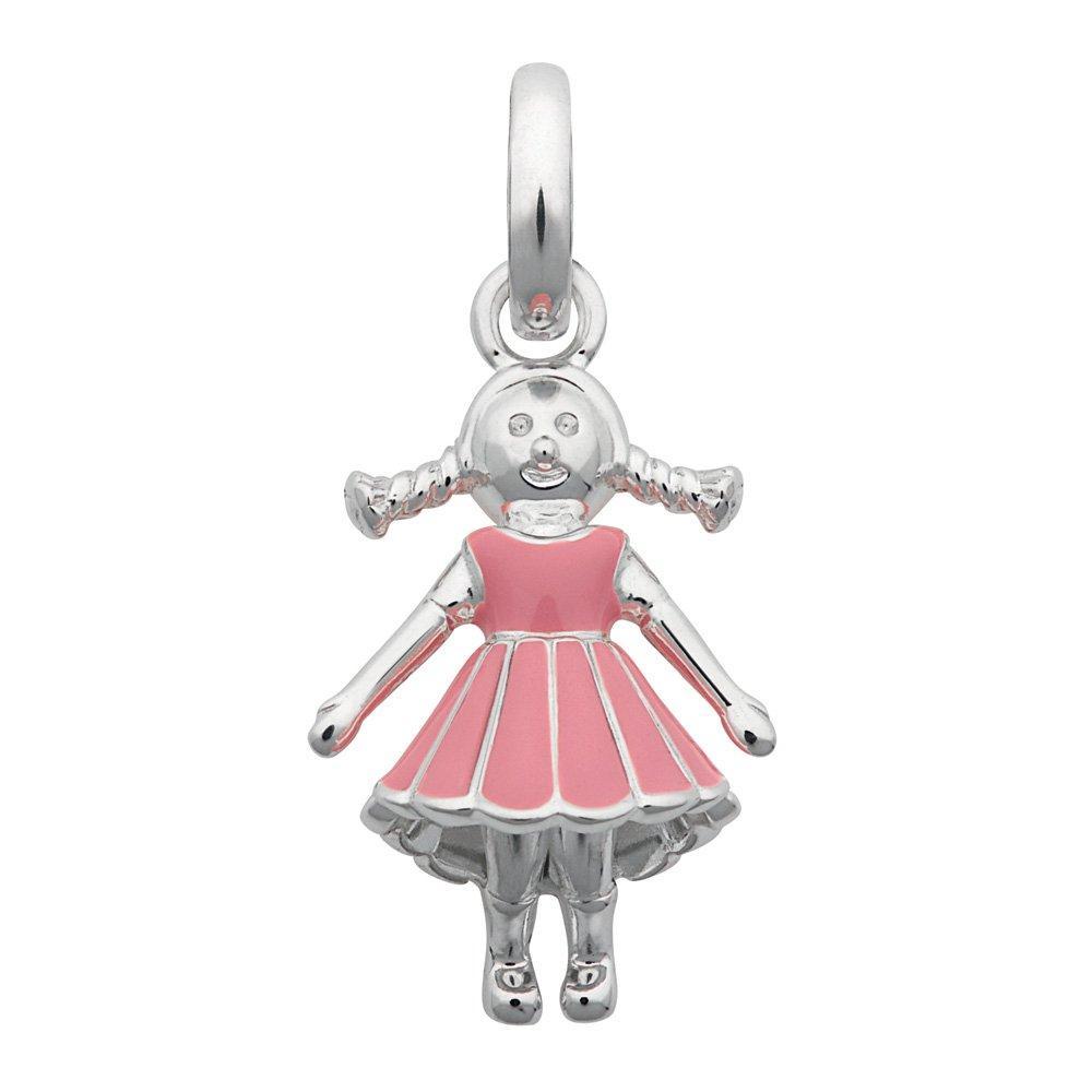 Links of London Silver Pink Enamel Girl Charm