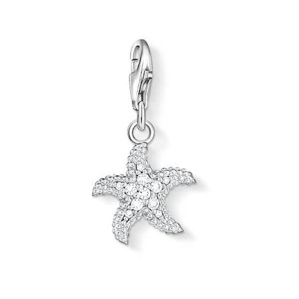 Thomas Sabo Generation Charm Club Silver and Cubic Zirconia Starfish Charm