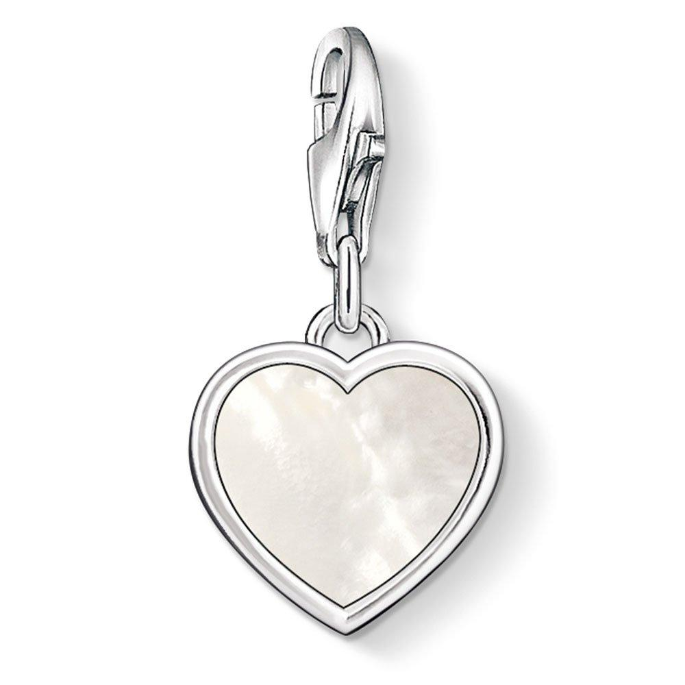 Thomas Sabo Generation Charm Club Silver and Mother of Pearl Heart Charm