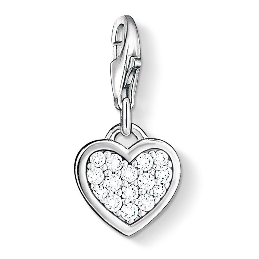 Thomas Sabo Generation Charm Club Silver and Cubic Zirconia Heart Charm