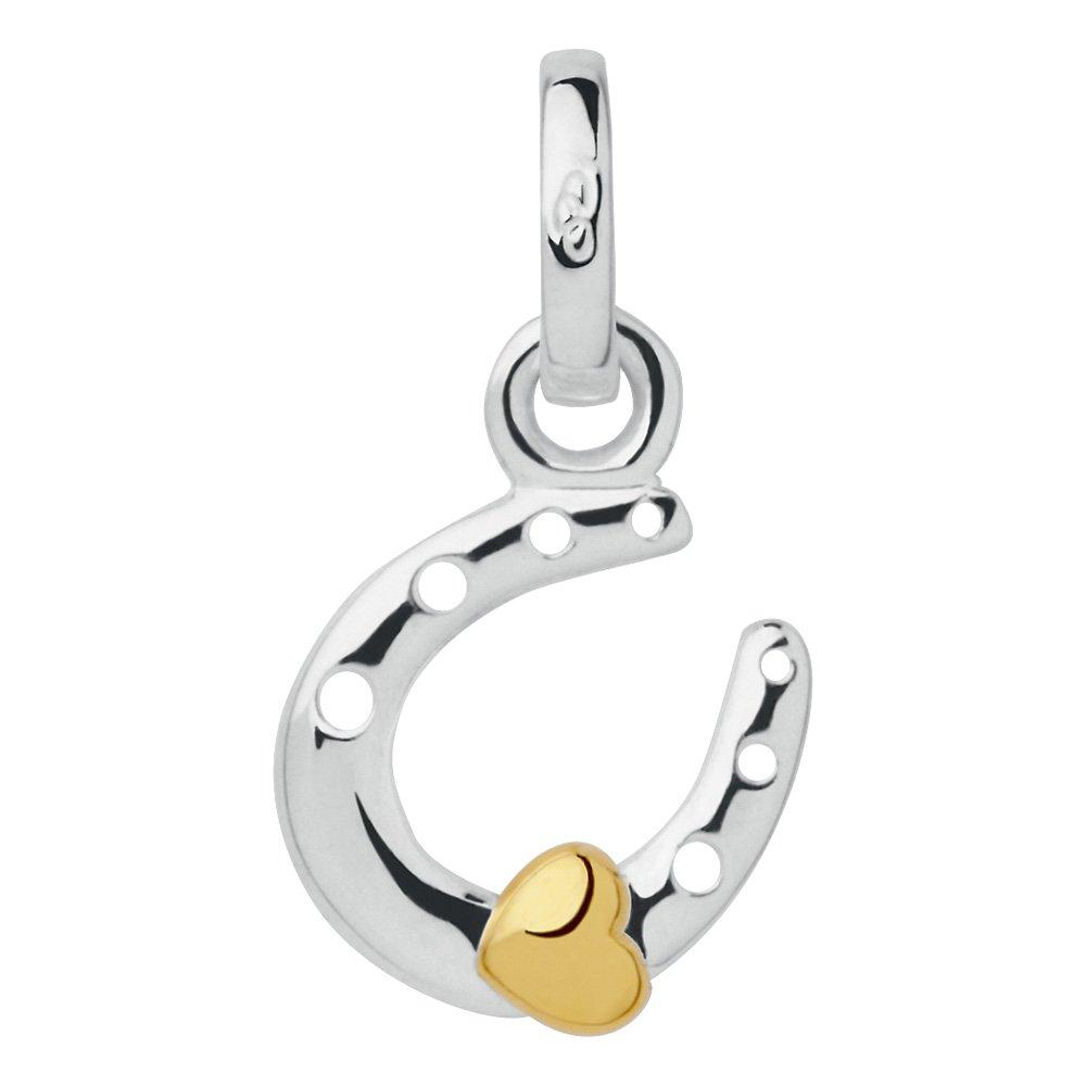Links of London Silver and Gold Plated Mini Horseshoe and Heart Charm