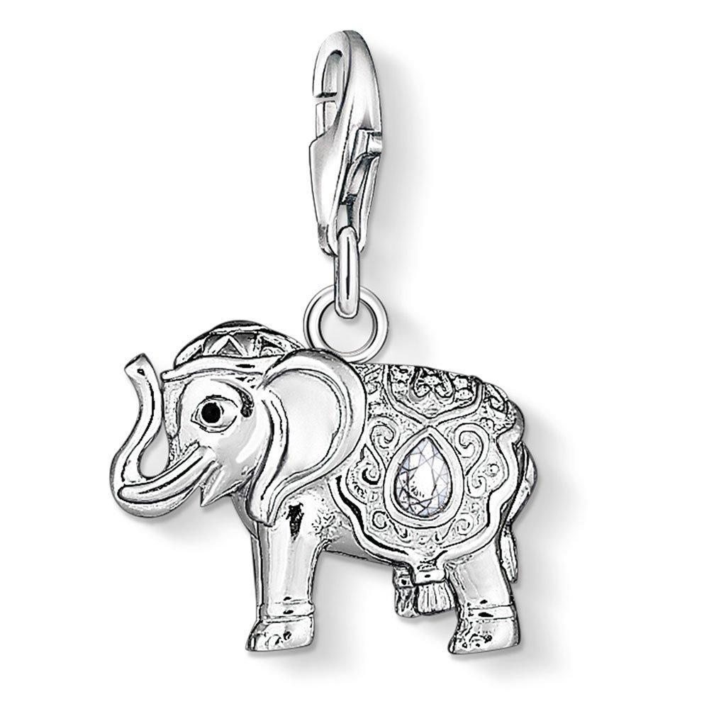 Thomas Sabo Generation Charm Club Silver Cubic Zirconia Elephant Charm