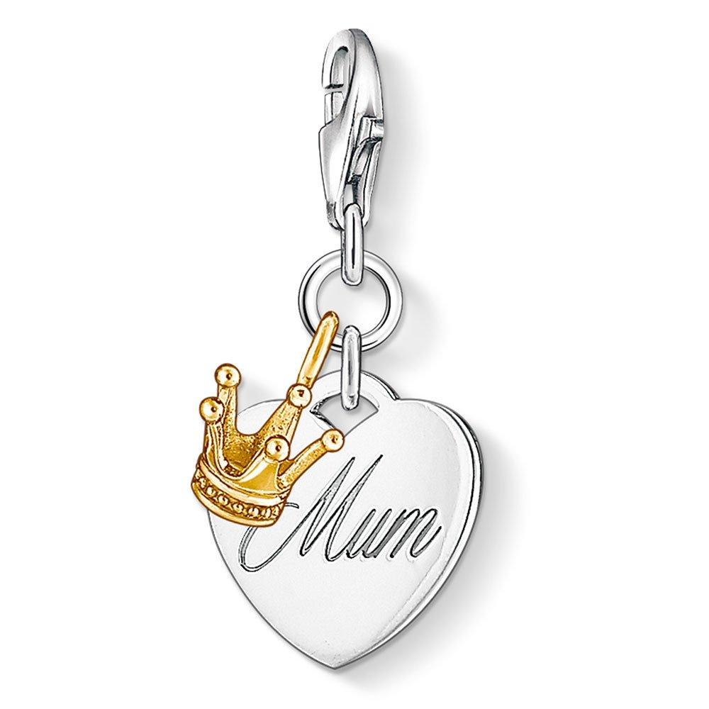 Thomas Sabo Generation Charm Club Silver and 18ct Gold Plated Mum Charm