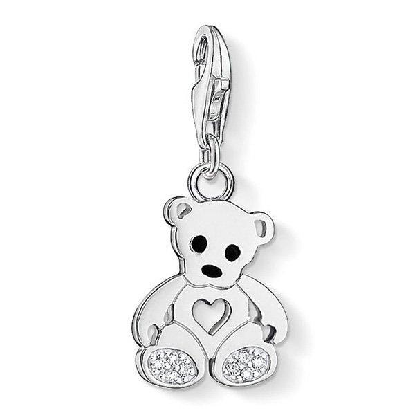 Thomas Sabo Generation Charm Club Silver Cubic Zirconia Teddy Bear Charm