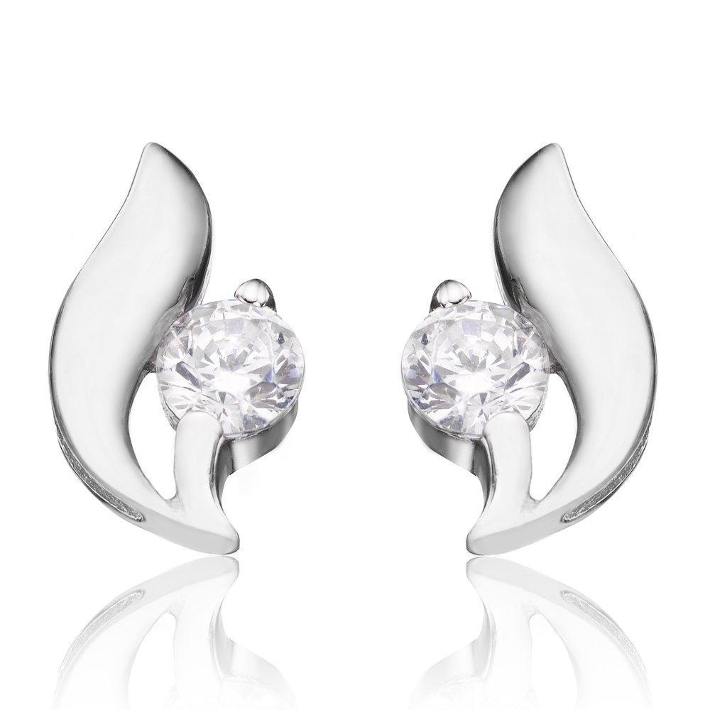 Silver Cubic Zirconia Stud Earrings