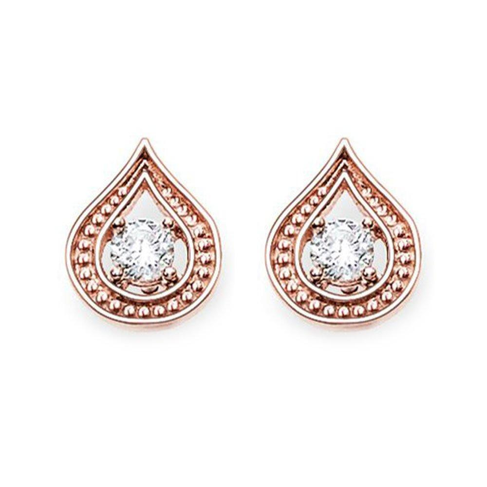 Thomas Sabo Glam & Soul 18ct Rose Gold Plated Cubic Zirconia Earrings