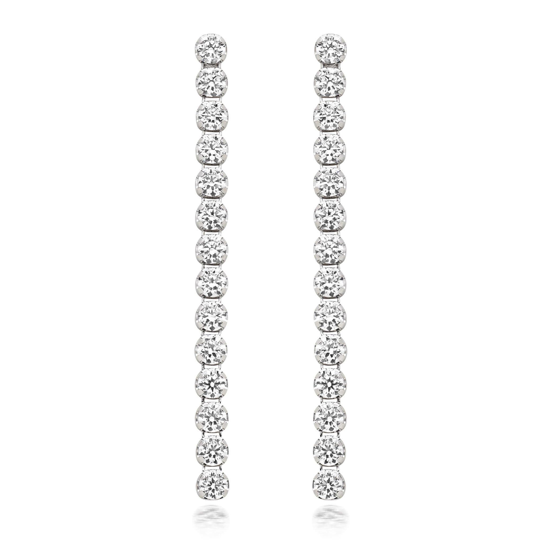 Silver Cubic Zirconia Drop Earrings