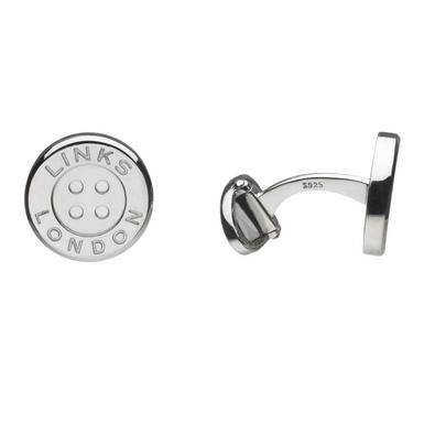 Links of London Men's Silver Button T-Bar Cufflinks