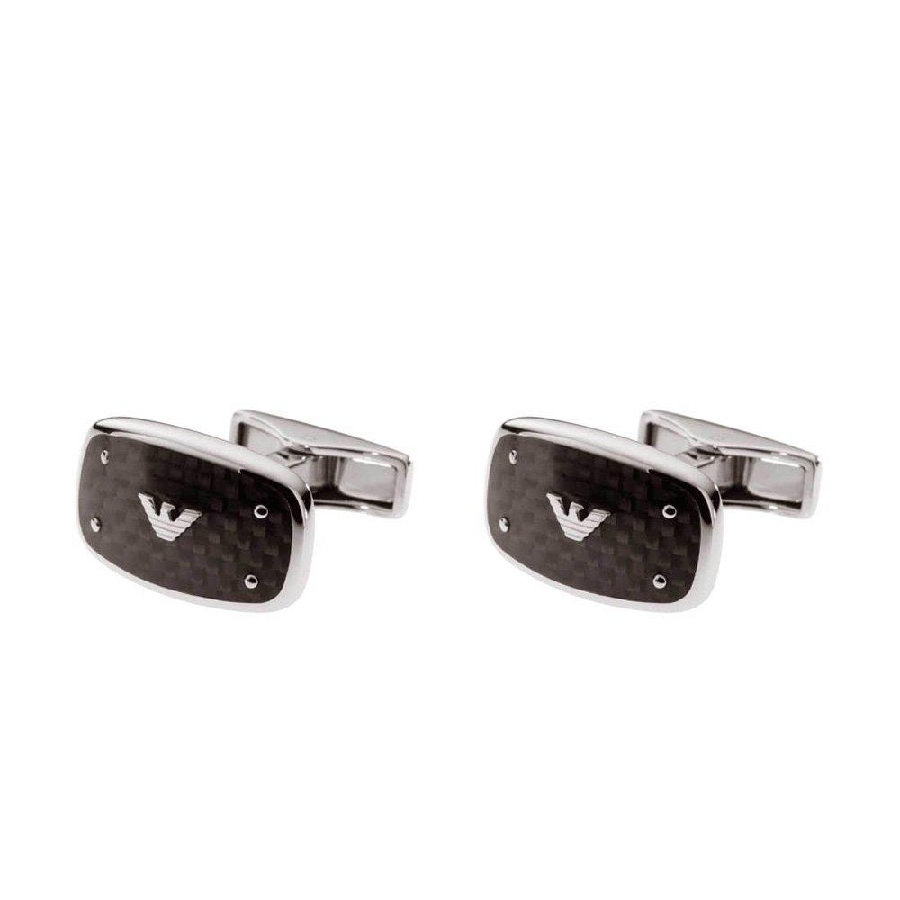 Emporio Armani Steel Carbon Fibre Men's Cufflinks