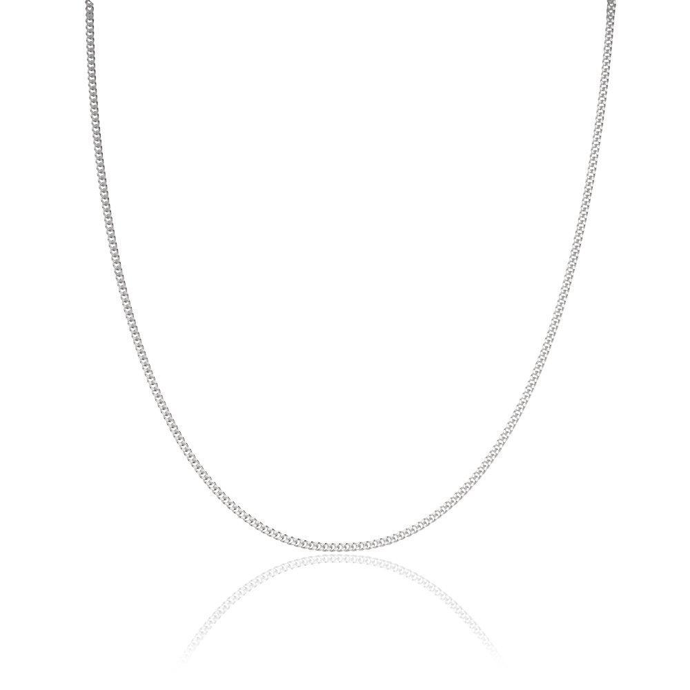 Silver Curb Chain 45cm