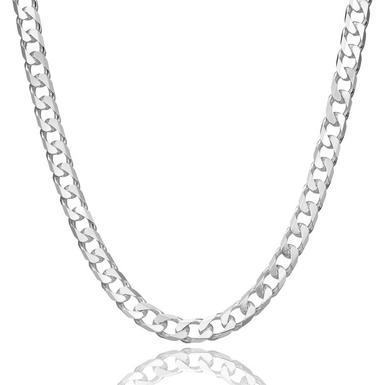 Silver Curb Chain 50cm