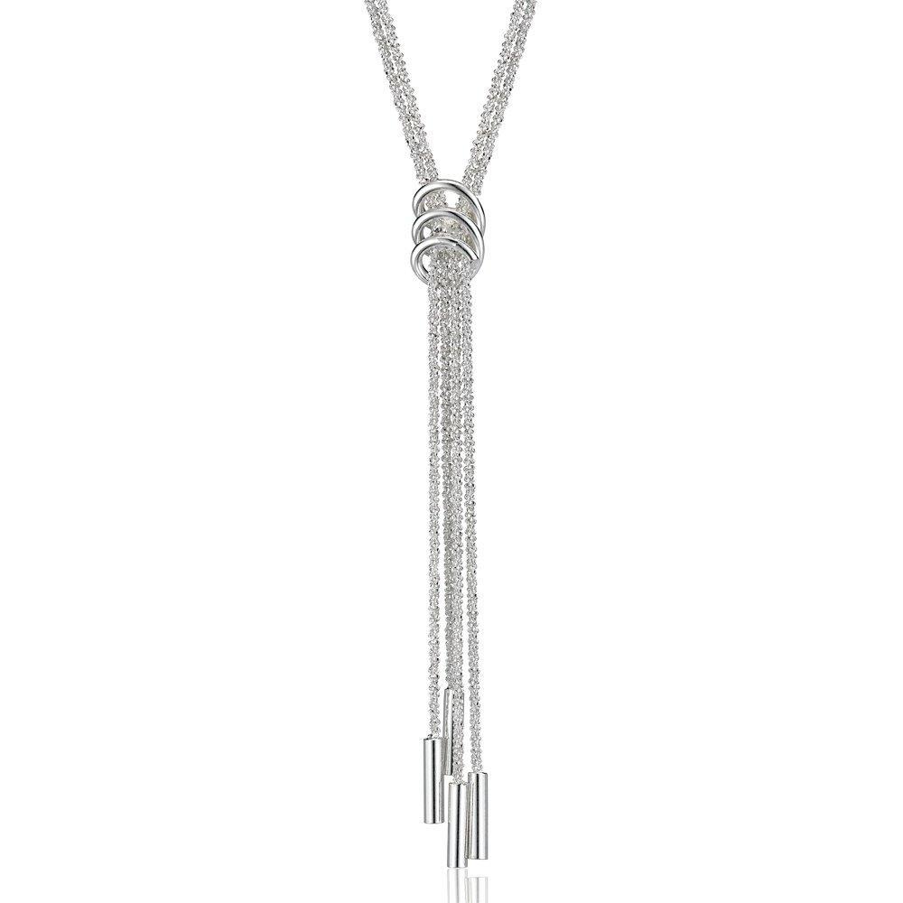 Silver Tassle Drop Necklace