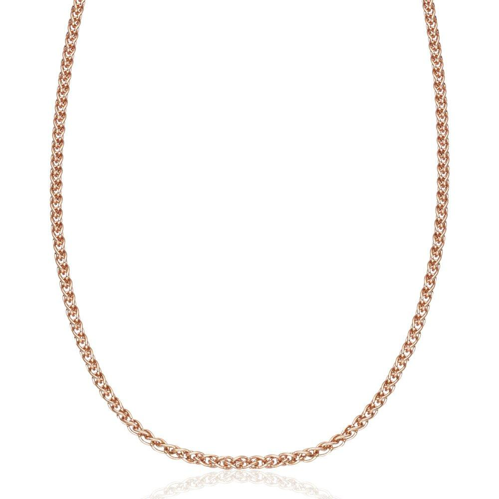18ct Rose Gold Plated Silver Spiga Chain 45cm