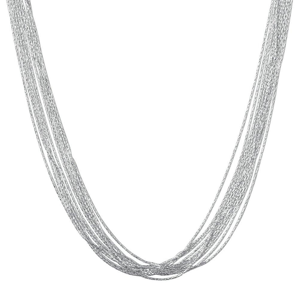 Links of London Silk 10 Row Silver Necklace