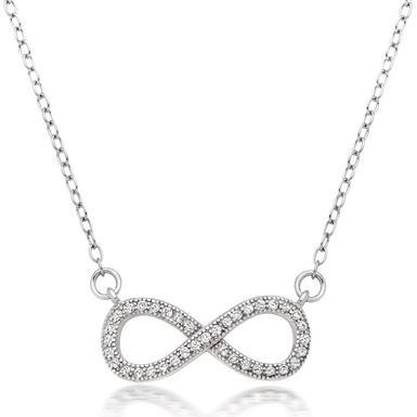 Silver Infinity Cubic Zirconia Necklace