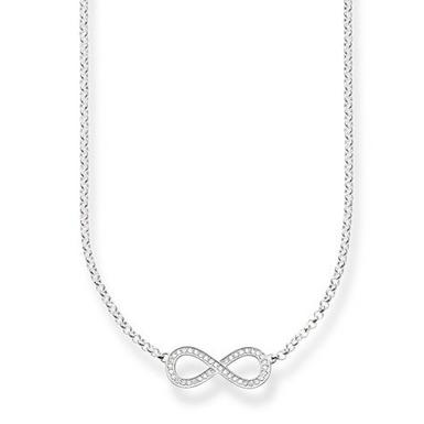 Thomas Sabo Glam & Soul Silver Cubic Zirconia Infinity Necklace