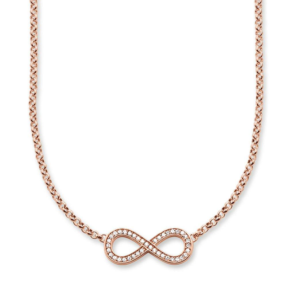 Thomas Sabo Glam & Soul Rose Gold Plated Cubic Zirconia Necklace