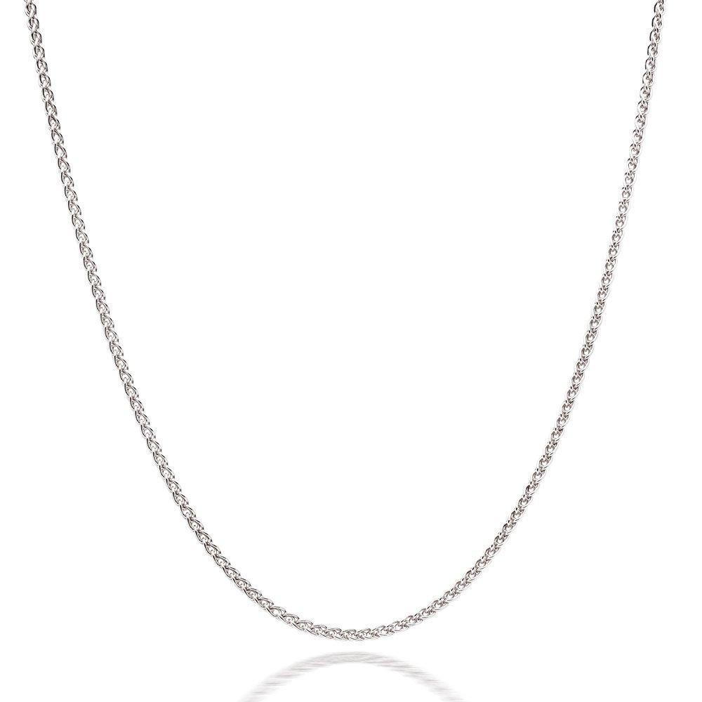 Silver Spiga Chain 75cm