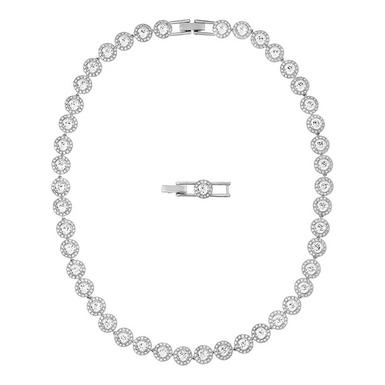 Swarovski Angelic Rhodium Plated Crystal Necklace