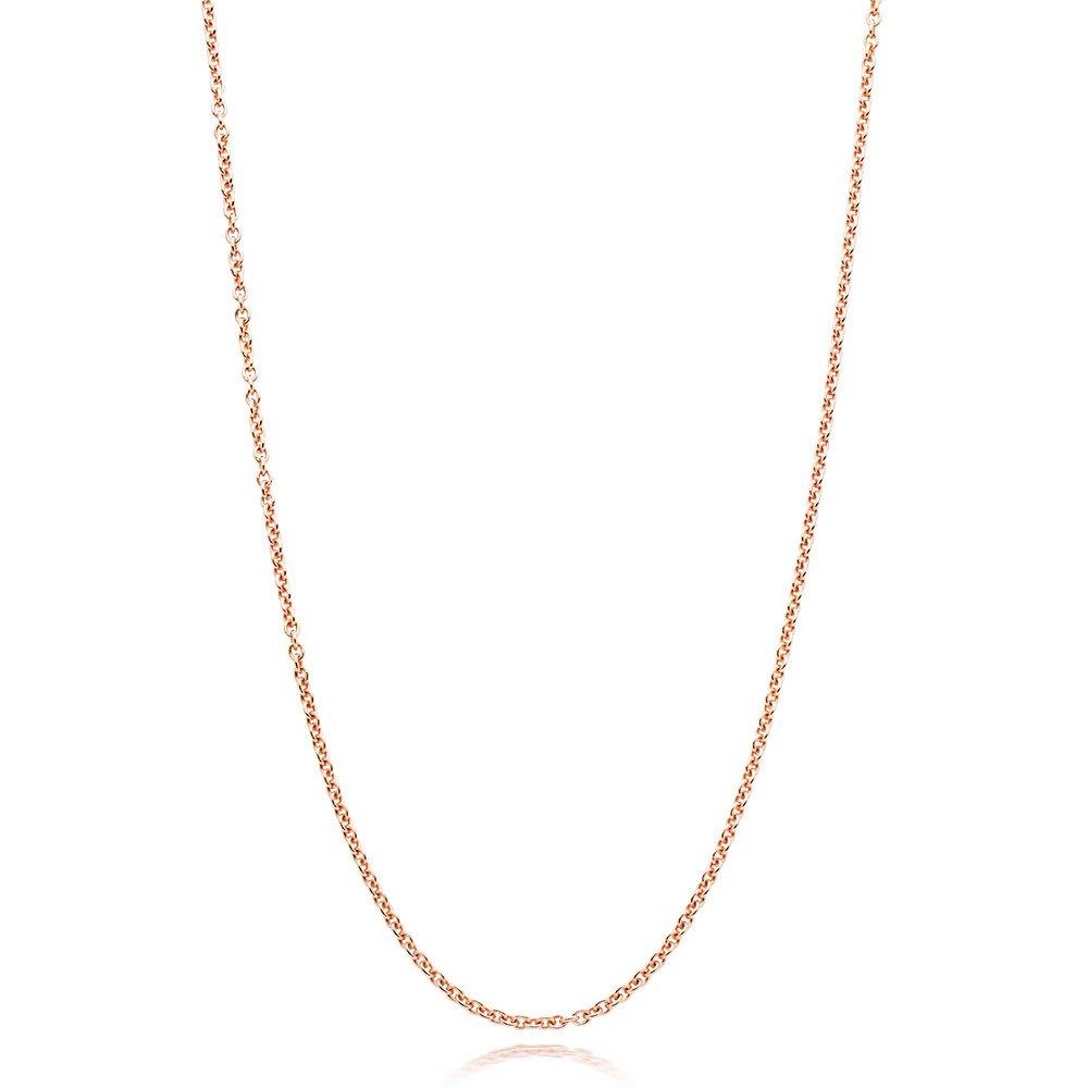 Silver 18ct Rose Gold Plated Trace Chain 45cm