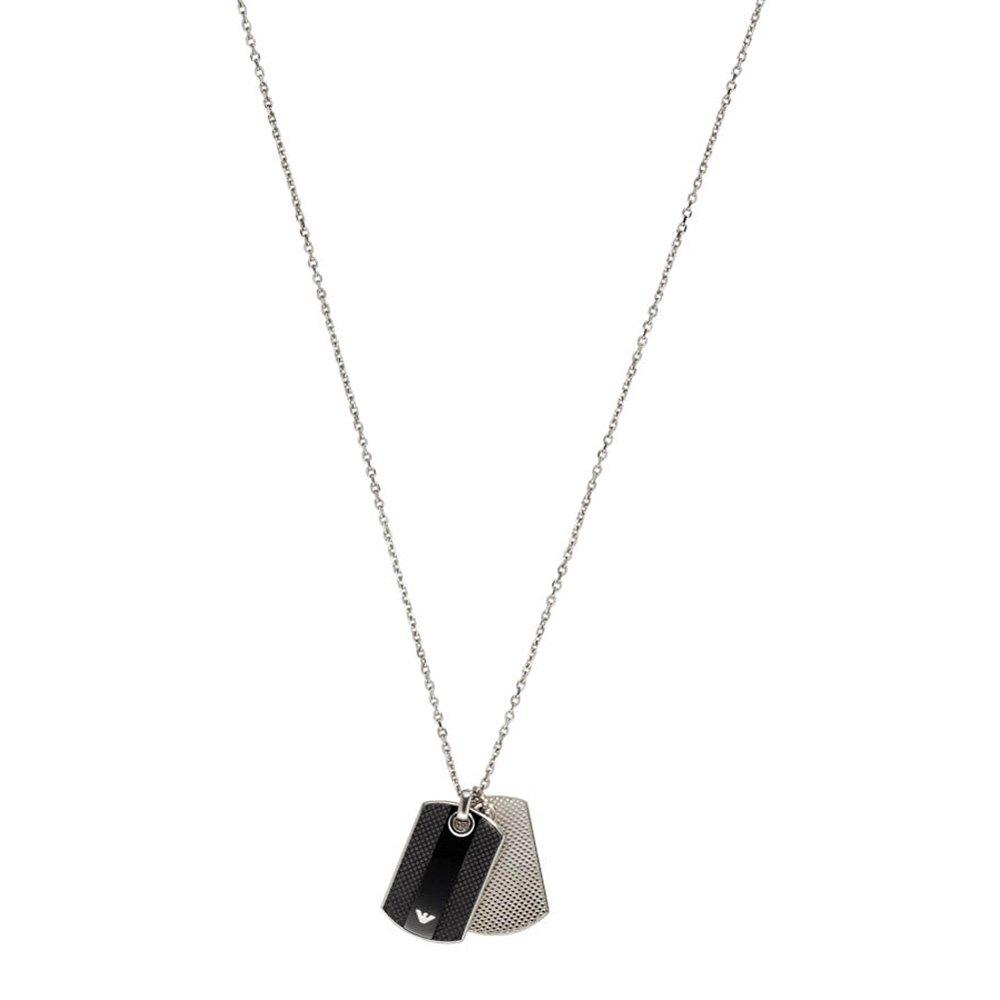 Emporio Armani Steel Dog Tag Men's Pendant