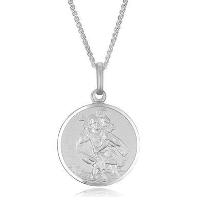 Silver Saint Christopher Pendant
