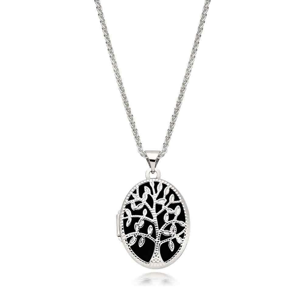 Silver Tree Locket Pendant