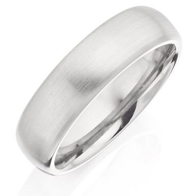 Men's Brushed Titanium Ring
