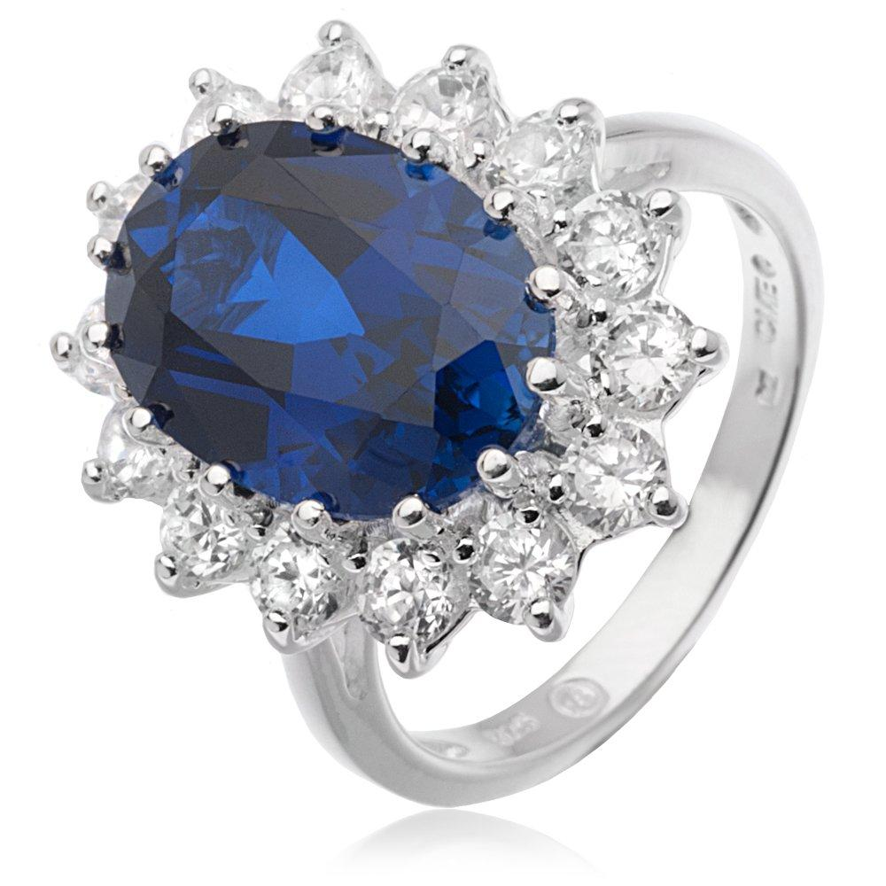 Silver Cubic Zirconia Cluster Ring