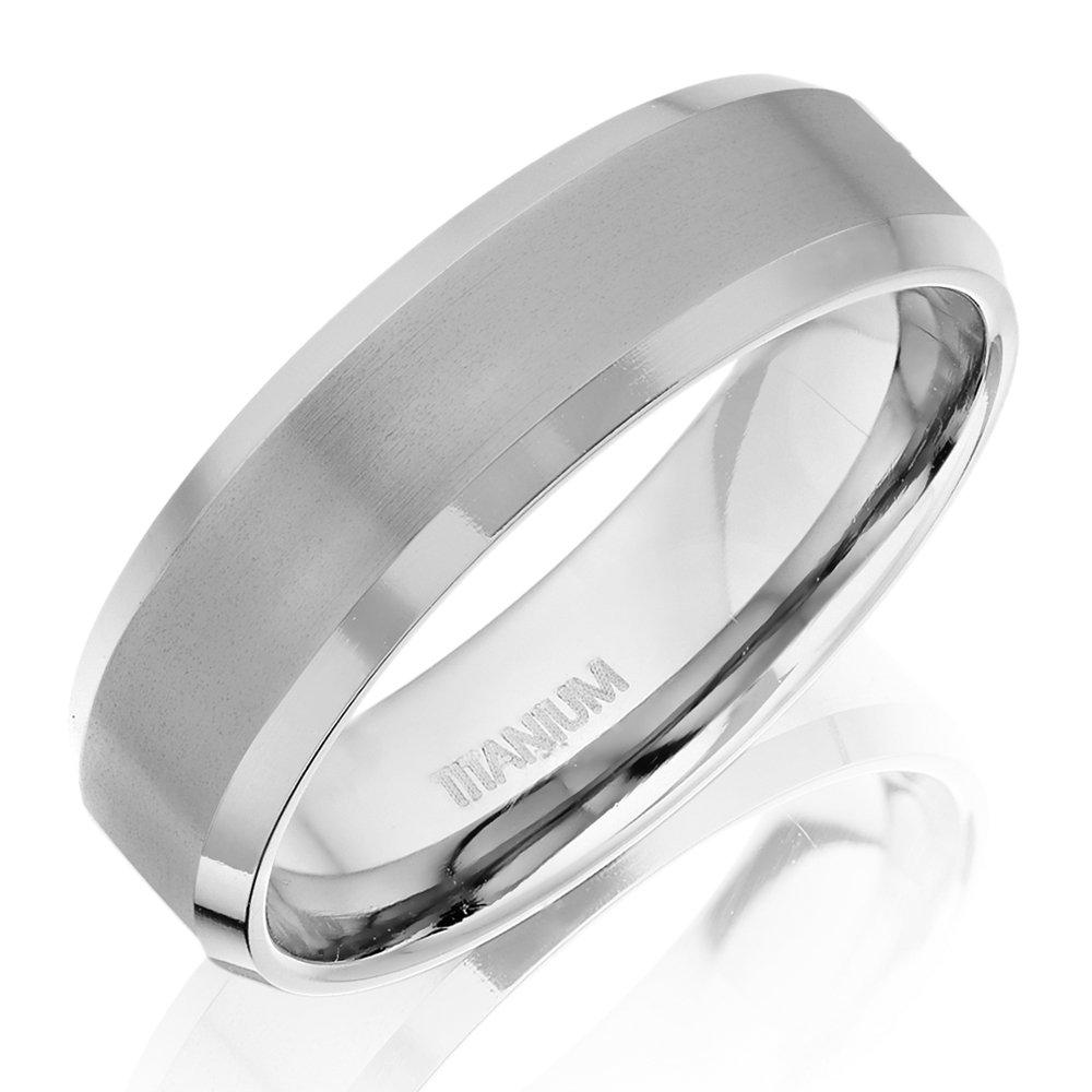 Men's Bevelled Edge Titanium Ring