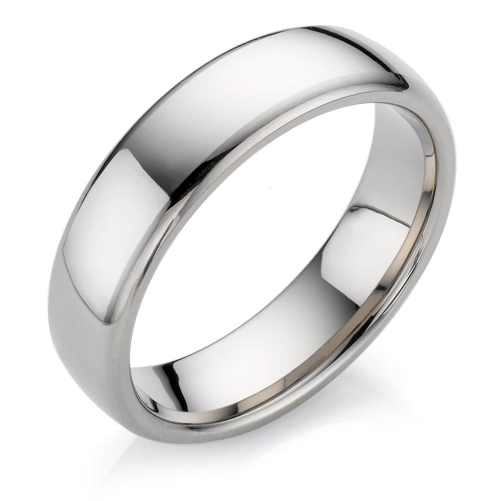 Men's Polished Titanium Ring
