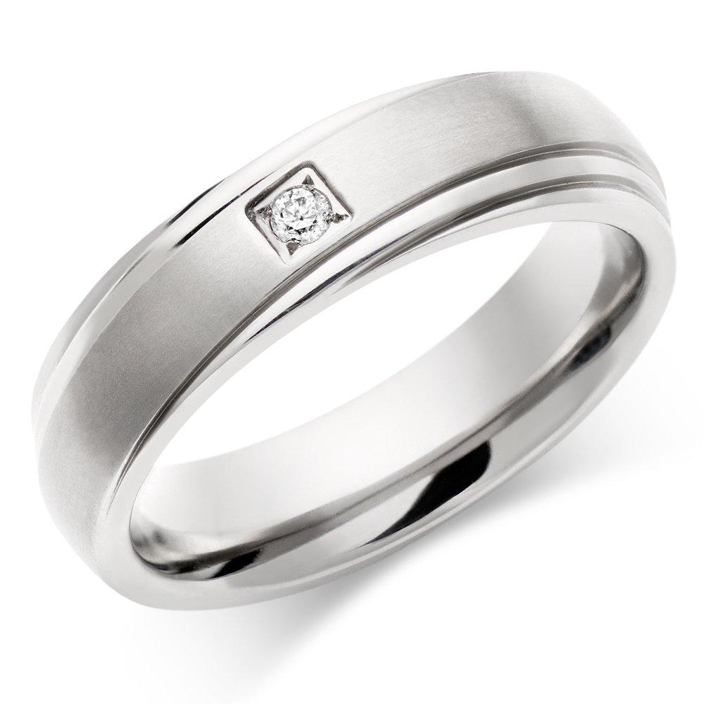 Titanium Diamond Men's Ring