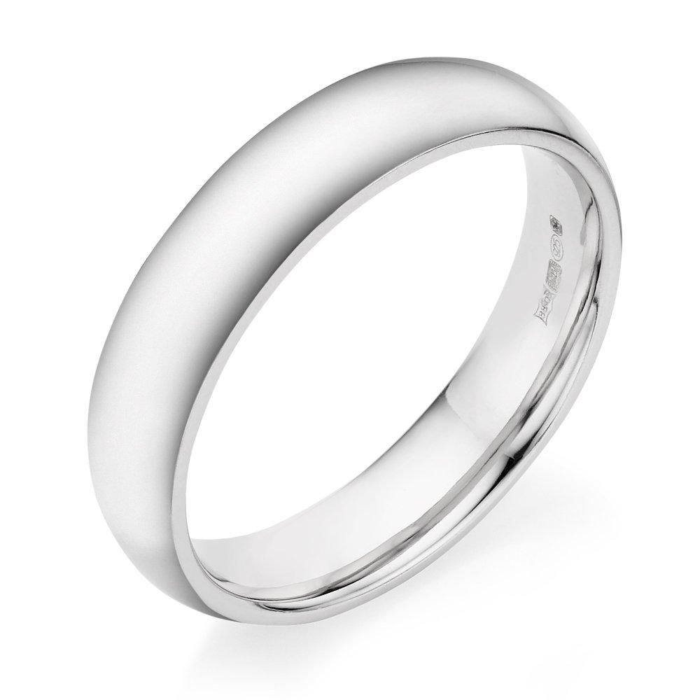 Silver Men's Court Ring