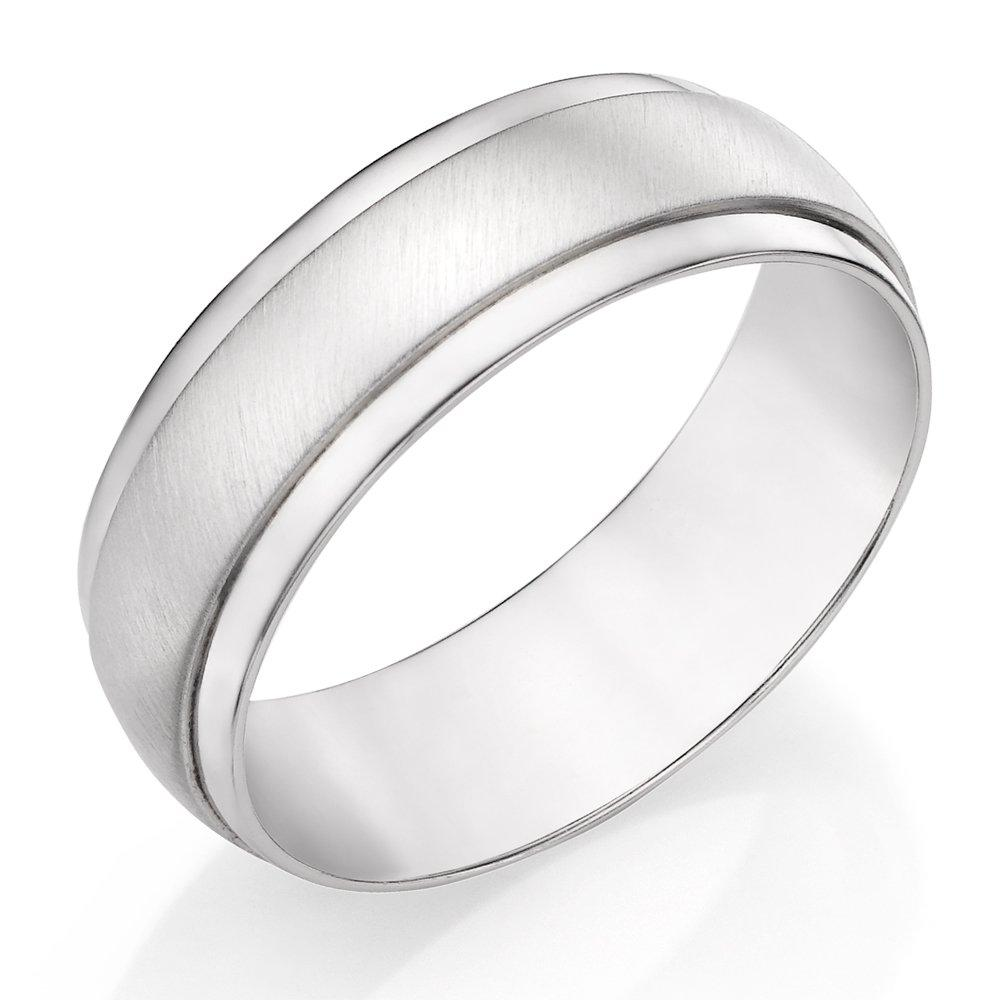 Silver Textured Men's Ring