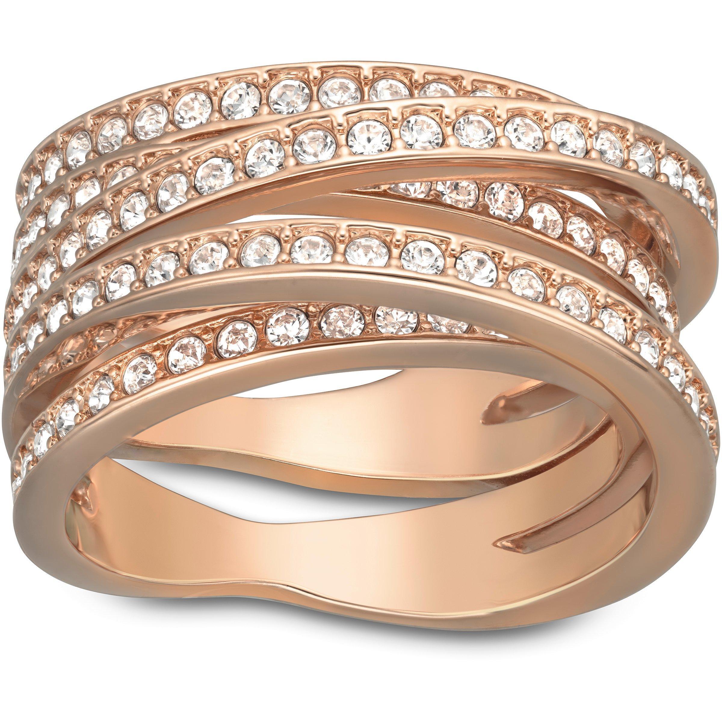 Swarovski Spiral Rose Gold Tone Ring