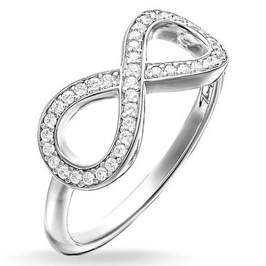 Thomas Sabo Glam & Soul Silver the Eternity of Love Cubic Zirconia Ring