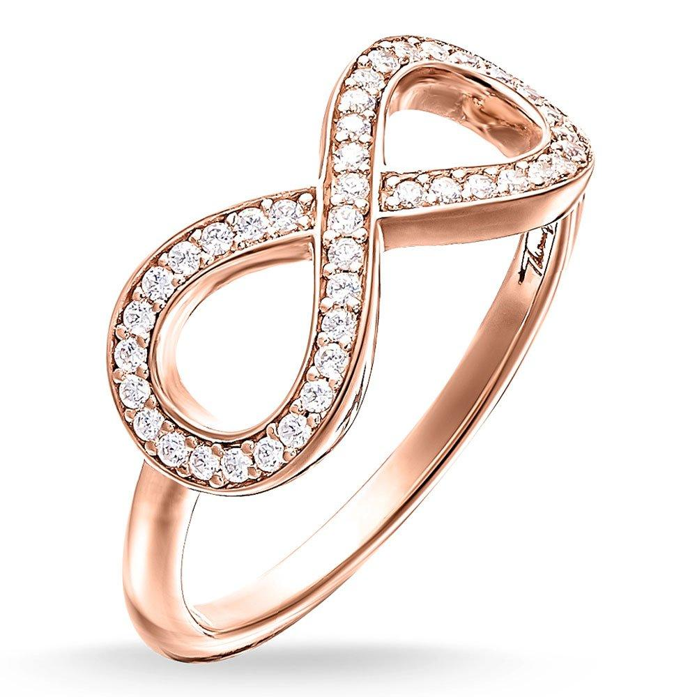 Thomas Sabo Glam & Soul Rose Gold Plated Cubic Zirconia Infinity Ring