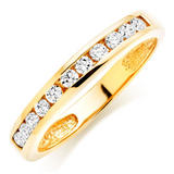 Gold Plated Cubic Zirconia Stacking Ring