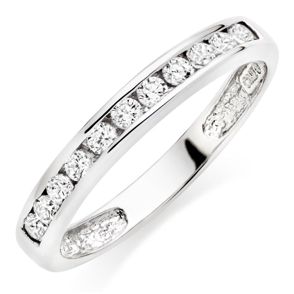 Silver Cubic Zirconia Stacking Ring