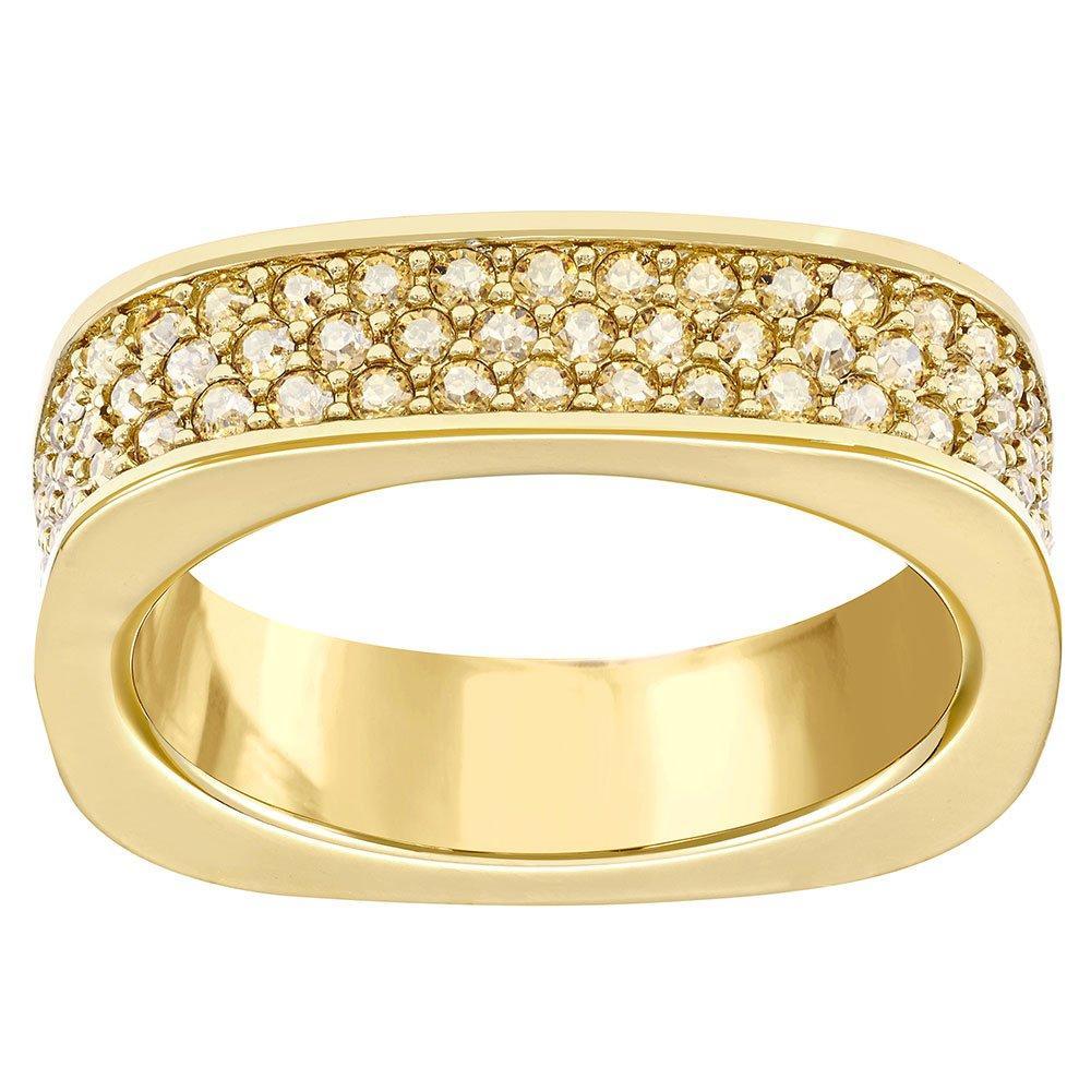 Swarovski Vio Gold Tone Crystal Ring