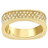Swarovski Vio Gold Tone Crystal Ring