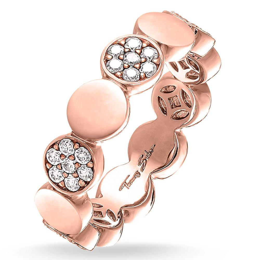 Thomas Sabo Glam & Soul 18ct Rose Gold Plated Cubic Zirconia Ring